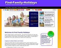 Find Family Holidays Home Page