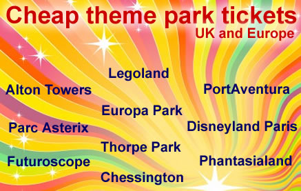 Theme park tickets for the UK and Europe